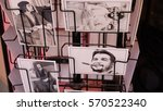 Small photo of HAVANA CITY, CUBA - NOVEMBER 2016: The postcards of Che Guevara are displayed for sale in old Havana streets.