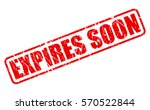 expires soon red stamp text on... | Shutterstock .eps vector #570522844