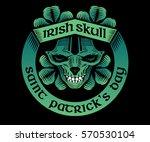 irish skull. vector... | Shutterstock .eps vector #570530104