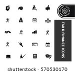 tax and finance icon set clean... | Shutterstock .eps vector #570530170