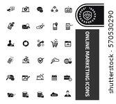 online marketing icon set clean ... | Shutterstock .eps vector #570530290