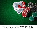 close up casino chips and cards ... | Shutterstock . vector #570531154
