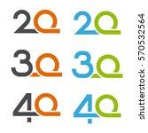 20 30 40 anniversary number... | Shutterstock .eps vector #570532564