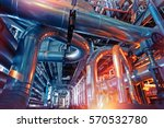 equipment  cables and piping as ... | Shutterstock . vector #570532780