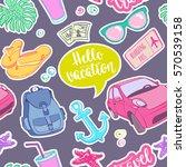 seamless pattern travel... | Shutterstock .eps vector #570539158