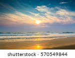 sunset   sunrise and beach | Shutterstock . vector #570549844