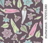 seamless pattern chili pepper... | Shutterstock . vector #570551380