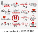 happy valentines day vintage...   Shutterstock .eps vector #570552103