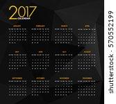 calendar 2017 with polygonal...   Shutterstock .eps vector #570552199