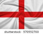 england flag with fabric... | Shutterstock . vector #570552703