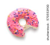 Pink frosted donut with...
