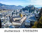 salzburg in austria - old town - stock photo