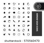 arrow icon set clean vector | Shutterstock .eps vector #570560470