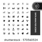 data analysis icon set clean... | Shutterstock .eps vector #570560524