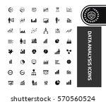 data analysis icon set clean... | Shutterstock .eps vector #570560524