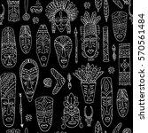 tribal mask ethnic  seamless... | Shutterstock .eps vector #570561484