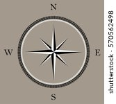 wind rose compass icon | Shutterstock .eps vector #570562498