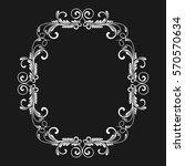 vintage frame. circular baroque ... | Shutterstock .eps vector #570570634