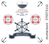 vintage nautical labels  icons... | Shutterstock .eps vector #570572110