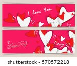 happy valentine's day love... | Shutterstock .eps vector #570572218