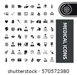 medical icon set clean vector | Shutterstock .eps vector #570572380