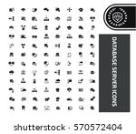 database icon set clean vector | Shutterstock .eps vector #570572404