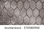 the old sidewalk cement hexagon ... | Shutterstock . vector #570580900
