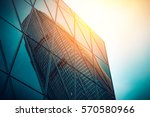 modern architecture with sun... | Shutterstock . vector #570580966