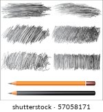 pencil drawings | Shutterstock .eps vector #57058171