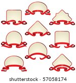 labels with red ribbons | Shutterstock .eps vector #57058174