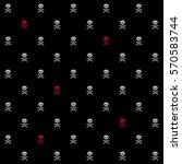 Pixel Crossbones Seamless...