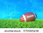 american football on the field. ... | Shutterstock . vector #570585658
