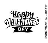 Stock vector happy valentines day hand drawing vector lettering design 570586549
