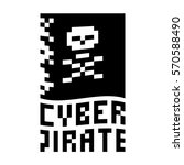cyber pirate conceptual icon ...