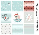 creative seamless patterns and... | Shutterstock .eps vector #570590224