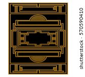 two color pattern with art deco ... | Shutterstock .eps vector #570590410
