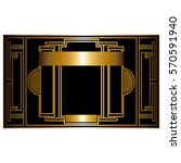 two color pattern with art deco ... | Shutterstock .eps vector #570591940