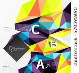 low poly polygonal triangle... | Shutterstock .eps vector #570592690