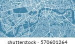 vector map of  center of london ...