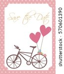 cute save the date card or... | Shutterstock .eps vector #570601390