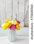 Small photo of Bouquet of ranunculus flowers