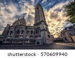 sacre coeur basilica in... | Shutterstock . vector #570609940