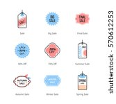 shop sales tag  price labels ... | Shutterstock .eps vector #570612253