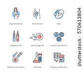 pregnancy  obstetrics  ... | Shutterstock .eps vector #570613804
