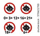 vector illustration. warning... | Shutterstock .eps vector #570621700