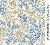 Floral Seamless Pattern. Linea...