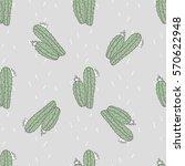 vector illustration of cactus... | Shutterstock .eps vector #570622948