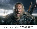 viking during fight | Shutterstock . vector #570625723