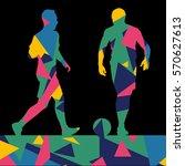 soccer men football players... | Shutterstock .eps vector #570627613