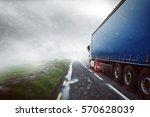 truck in the fog | Shutterstock . vector #570628039